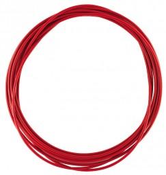 Schaltzug Hülle 4mm rot 2,5m Rolle