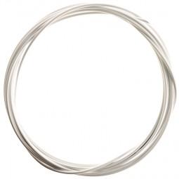 Bremszug Hülle 5 mm Weiß 2,5 m Rolle