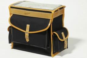 Berthoud GB 2886 VR Gepäckträgertasche 12 Liter schwarz / braun
