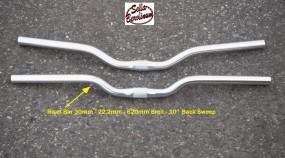 Riser 30 Lenker 22,2 - 620 - 10°/ 25,4mm Alu silber poliert