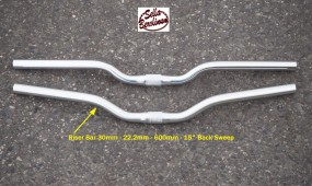 Riser 30 Lenker 22,2 - 600 - 15° / 25,4mm Alu silber seidenmatt