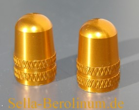 AV1 Ventilkappen Alu rotgold elox. AV/ Autoventil