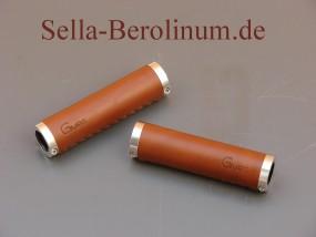 Gyes B1 Ledergriffe 130 - 130 mm lang honigbraun, Paar