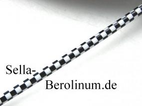 Bremszug Hülle 5 mm Karo schwarz / weiß 2,5 m Rolle