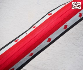 700x 23C Faltreifen weiß / rot / weiß
