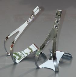 Zefal Christophe Pedalhaken Gr.L / XL, Stahl verchromt