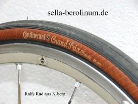 Continental Grand Prix Classic 700x 25C schwarz / braun Faltreifen