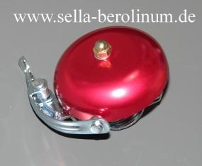 Rennglocke Alu rot eloxiert 55 mm