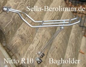 Nitto R10 Taschenhalter/ HR Gepäckträger Stahl silber