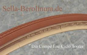 1 Paar Dia Compe Ene Ciclo Tourer 700x 28 C braun / gumwall