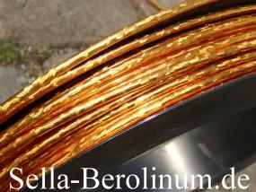 Bremszug Hülle 5mm Gold / Glitter 2,5m Rollen