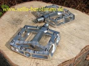Gusset Nitro Plattform Pedal Alu silber