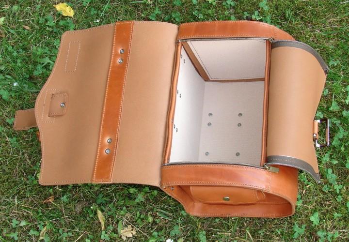 leder gep cktr gertasche 10 liter hellbraun taschen. Black Bedroom Furniture Sets. Home Design Ideas