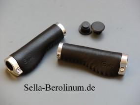 Gyes B3 Ergo Ledergriffe 140 - 140 mm lang Schwarz, Paar