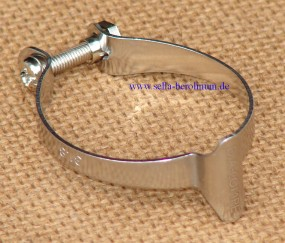 Dia Compe 1501 Casing Clip für 25,4mm Rohre silber