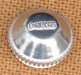 Staubkappe f.MKS Sylvan mit Logo silber, Stück