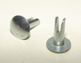 Sattel Spaltniet 8x16mm silber