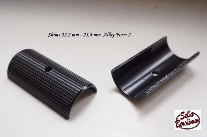 Lenker Reduzierung Distanschalen 22,2-25,4mm Alu Silber