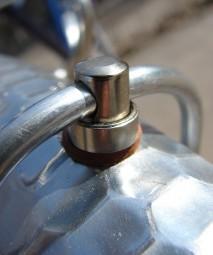 Stahl Strebenkloben M 5 x 8 mm verzinkt f. Ø 5 mm Streben