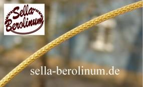 2,5 m Bremszug Hülle 5 mm Metall gold, geflochten