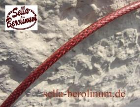 Bremszug Hülle 5mm Metall rot, geflochten 2,5m Rolle