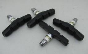 V-Brake Bremsbeläge schwarz, 2 Paar