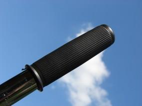 Griffe 404 geriffelt schwarz 100 mm, 1 Paar